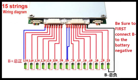 7S to 16S BMS 300A 320A for 24V 36V up to 48V Battery Management System with Bluetooth Monitor