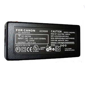 AC Adapter for Canon ACK800 3V 1.5A Powershot A700 A540 A530 A520 A510 A430 A420 A410 A400 A310 A300 A200 A100 ACK-800 Brand New