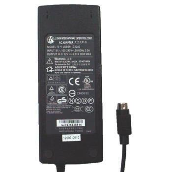 LI SHIN Genuine Original LSE0111C1280 AC Adapter 12V 6.67A 80W For ViewSonic VX2000 LCD Monitor and Others Brand New