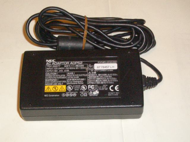 NEC Genuine ADP52 AC Adapter 19V 2.4A 36W Power Supply Charger for OP-52J-65001 Brand New