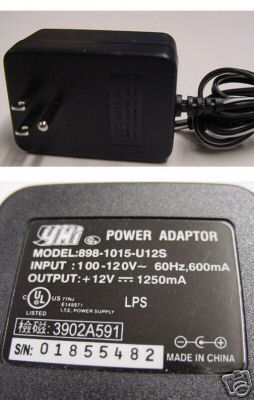 YHi 898-1015-U12S 12V 1250mA 1.25A AC Power Adapter for HP Scanjet 2300 2300C 3500 3670 3690 3970 4400 4600 5470C Scanner