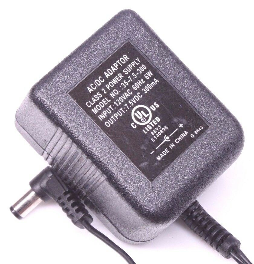 35-7.5-300 AC Adapter Power Supply Cord Cable Charger