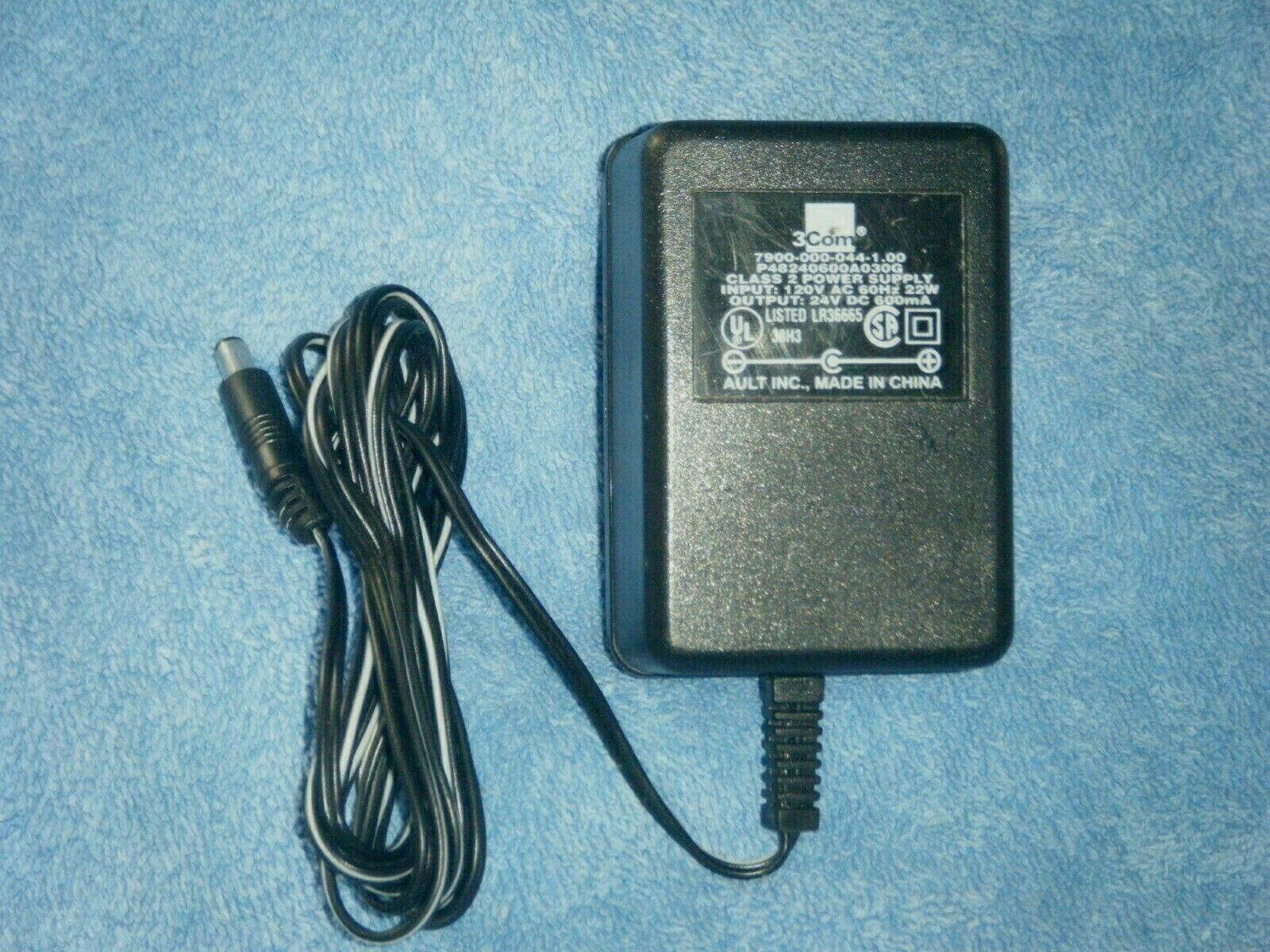 3Com P48240600A030G AC Adapter Power Cord Supply Charger Cable Wire Genuine Original