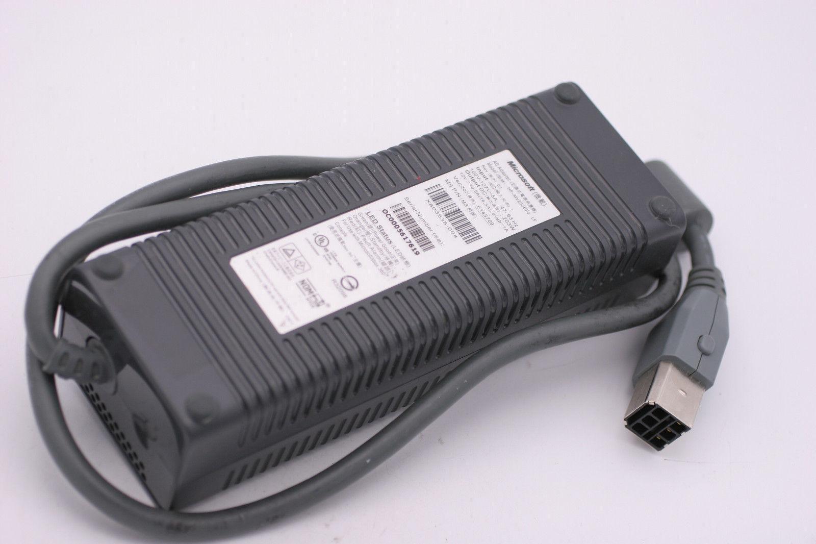 Microsoft HP-AW203EF3LF AC Adapter Power Cord Supply Charger Cable Wire Xbox 360 Genuine Original