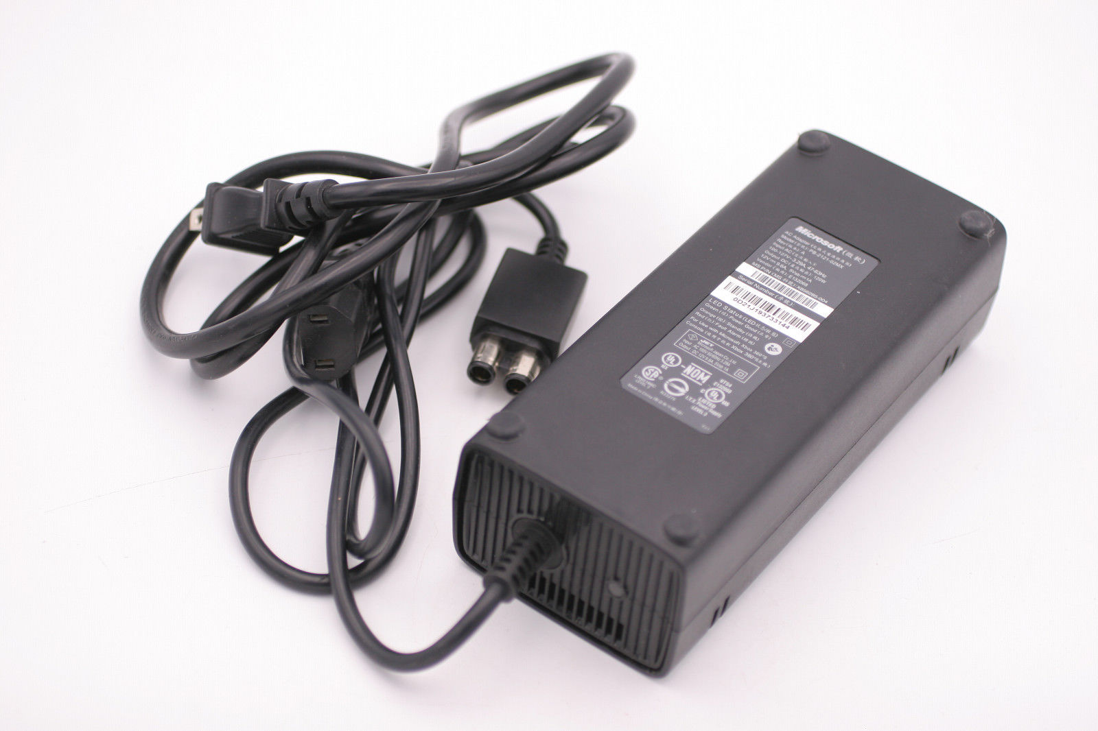 Microsoft PB-2121-02MX PB-2121-03MX AC Adapter Power Cord Supply Charger Cable Wire Xbox 360 Slim Genuine Original