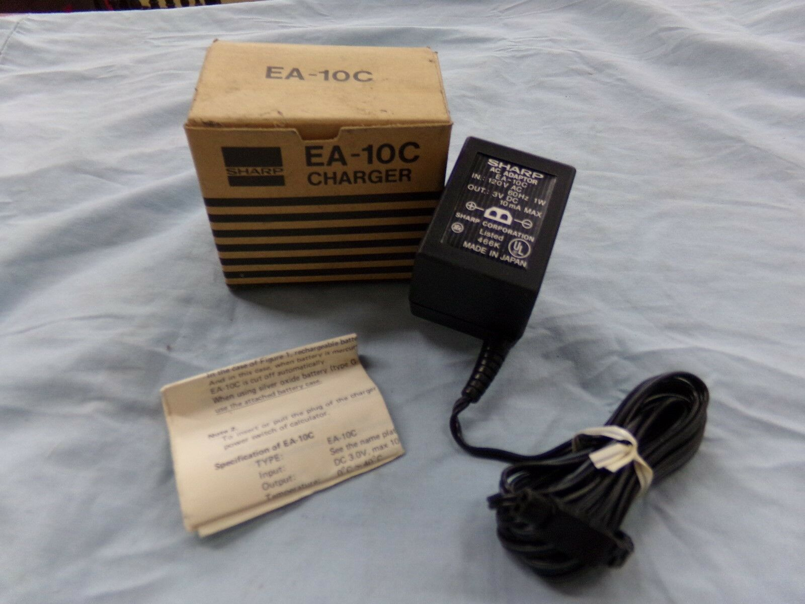 Sharp EA-10C AC Adapter Power Supply Cord Cable Charger Electronic Calculator Genuine Original