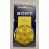 Sony 10/PR70 Zink Air Hearing Aid Battery 1.4v
