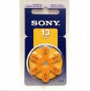 Sony 13/PR48 Zink Air Hearing Aid Battery 1.4v