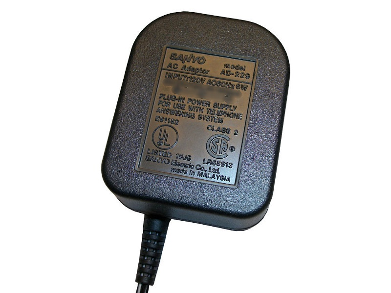 Sanyo AD-229 AC Adapter Power Cord Supply Charger Cable Wire